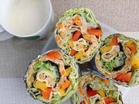千張蔬菜蛋捲(微波爐料理)