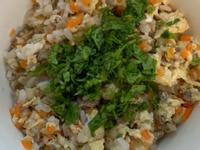 滑蛋牛肉波菜菇菇粥(寶寶軟飯~電鍋版)