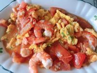番茄蝦仁炒蛋(蝦高湯)