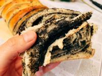 流心黑芝麻面包