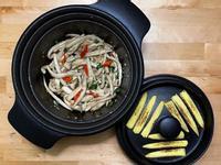 椒鹽杏鮑菇+烤玉米筍