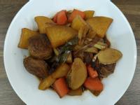 紅燒雙色蘿蔔豆輪(可素食)