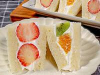 日式奶油水果三明治 | 簡單易做 下午茶