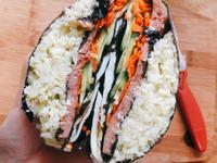 「生酮飲食」無米花菜口袋壽司 折疊包法