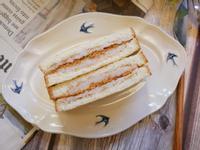 網美款「芋泥肉鬆三明治」甜鹹滋味好好吃~