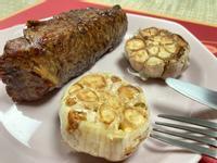 飛利浦氣炸鍋料理:香煎牛排佐香蒜球