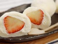 草莓奶油大福🍓雪媚娘|日式甜點和菓子