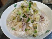 酸菜白肉拌麵線