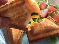 鮮蝦櫛瓜起司三明治