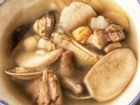 山藥菇菇蛤蜊雞湯(電鍋雞湯)