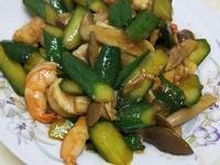 醬燒小黃瓜蝦仁