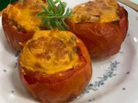 氣炸焗烤鮪魚玉米番茄盅