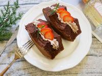 幸福感「巧克力戚風蛋糕三明治」好好吃~