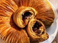 免揉黃豆粉紅豆白巧克力毛線球麵包