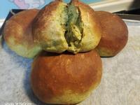 抹茶湯圓米麵包