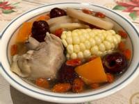 蓮藕紅棗雞湯 (大同電鍋)