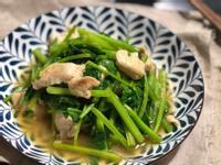 雞里肌炒菠菜 /S&B柚子青辣椒調味料