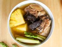 老菜脯蘆筍鳳梨雞湯