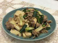 蔥香梅花肉炒豆乾