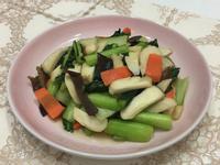 小松菜炒杏鮑菇(鰹魚露)