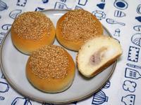 芋泥麻糬麵包。簡易麵包機食譜