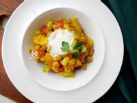 印度鷹嘴豆咖哩花椰菜飯