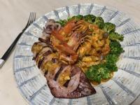 鮮蝦中卷南瓜金莎義大利麵