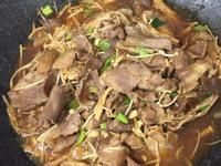火鍋肉片炒金針菇