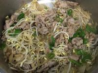 醋溜綠豆芽肉片