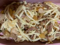 蘋果豬肉炒麵