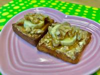 楓糖核桃香蕉吐司(氣炸版)