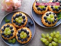 藍莓卡士達蛋糕-簡易版(懶人版)