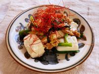 韭菜肉末炒豆腐