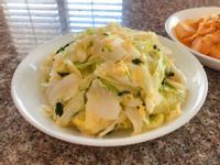 香菜滑蛋炒高麗菜|簡單美味|色香味俱全