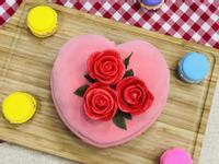 母親節蛋糕diy 愛心千層蛋糕
