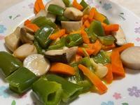 炒青椒胡蘿蔔杏鮑菇