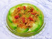 蒜蓉干貝蒸絲瓜(簡易/低醣)