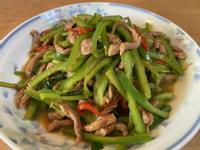 青椒炒肉絲 (5分鐘上好菜)