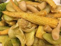 (全素蔬食)香料粉Masala炒豆菜筍菇