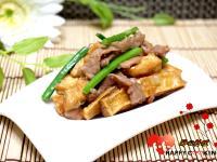 炸豆腐炒肉絲