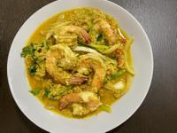 泰式咖哩粉炒蝦