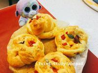 甜椒花圈麵包