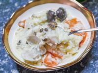 免麵粉免鮮奶油白醬燉飯~一鍋到底超簡單