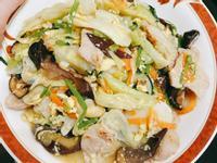 一鍋到底簡單快速三倍蔬菜炒年糕