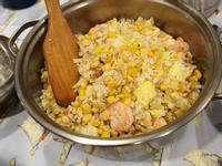 雞肉玉米蝦仁炒飯