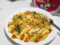 蔬菜炒泡麵雞蛋煎 _ 統一麵肉燥風味
