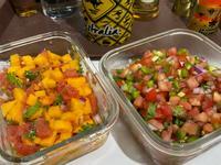 無止盡切丁的莎莎醬-芒果&蕃茄