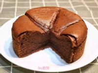 巧克力戚風蛋糕(6吋減糖配方)