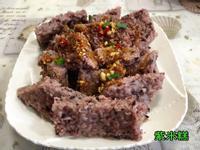 紫米飯做的紫米糕(水波爐料理)