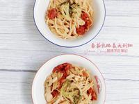 超簡單的-番茄乳酪義大利麵-電子鍋料理